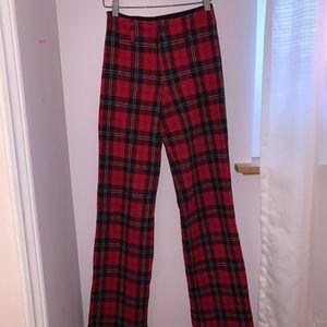 Red Plaid Brandy Pants
